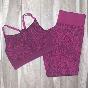 Fabletics set with floral pattern